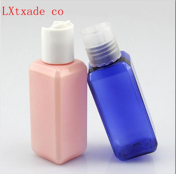 50 ml Crystal Clear Plastic Bottle Wholesale Retail Originales Square Cosmetic water Toner packaging Empty Cosmetic containers