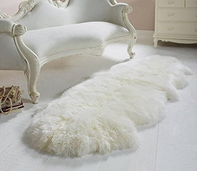 Double Pelt Genuine Sheepskin Rug Chair Cover Seat Pad Real Blanket Natural Fur 2