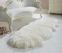 Double Pelt Genuine Sheepskin Rug Chair Cover Seat Pad Real Sheepskin Blanket Natural Fur 2 X6