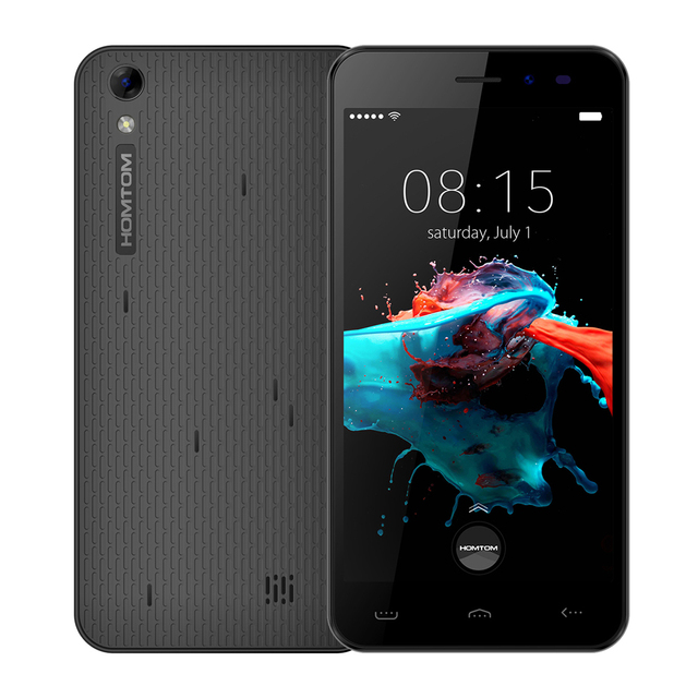 Original HOMTOM HT16 Smartphone 3G WCDMA Android 6.0 Quad Core MTK6580 5.0″ Screen 1GB RAM 8GB ROM Dual Cameras Mobile Phone