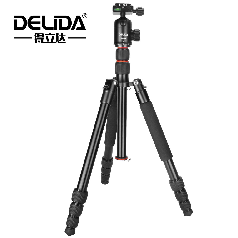 DELIDA A-425 Aluminum Tripod Monopod For dslr Camera Light Portable Stand Compact Professional Tripe For Gopro With Ball Heads ashanks professional aluminum camera tripod mini portable monopod with ball head for dslr photography video studio load 10kg
