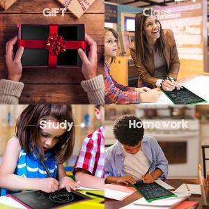 "Image 5 - NEWYES 12 ""สีเขียวเขียน Note Pad อิเล็กทรอนิกส์แท็บเล็ตกราฟิก e   Paper eWriter ของขวัญ Memo Snapchat สไตล์พร้อมกระเป๋า"