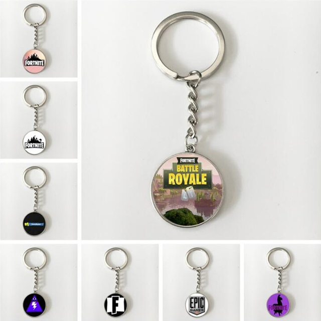 Hot Game Fortnite Keychain Cosplay Game Pendant Time Gems Model Key