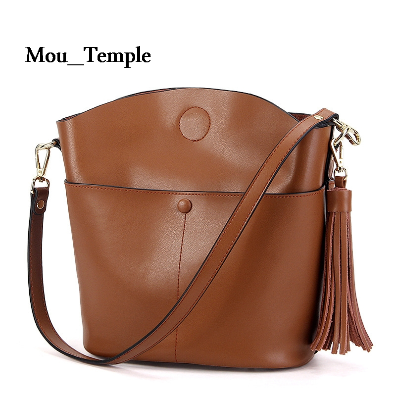 ФОТО Famous Designer leather women Handbags High Quality Cowhide bags for women Tassel shoulder Messenger Crossbody bags female