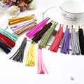 20pcs Fashion retro jewelry llavero bag pendant alloy casual Microfiber leather tassel keychain for car gift K00008