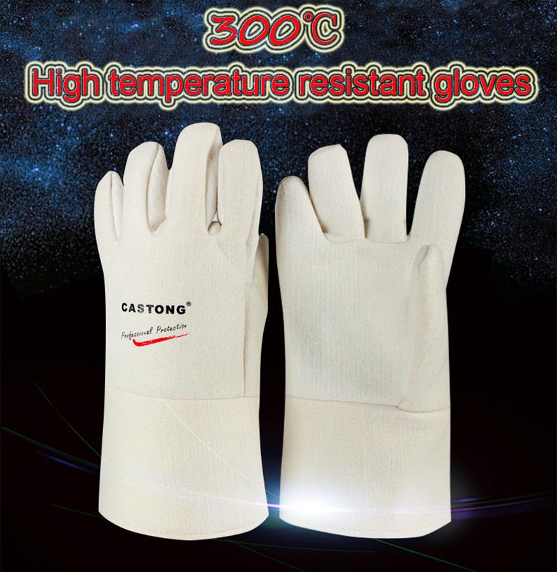 CASTONG 300 degree High temperature gloves white Para-aramid profession High temperature resistant gloves 40 40mm thermoelectric power generator high temperature generation element peltier module teg high temperature 150 degree white