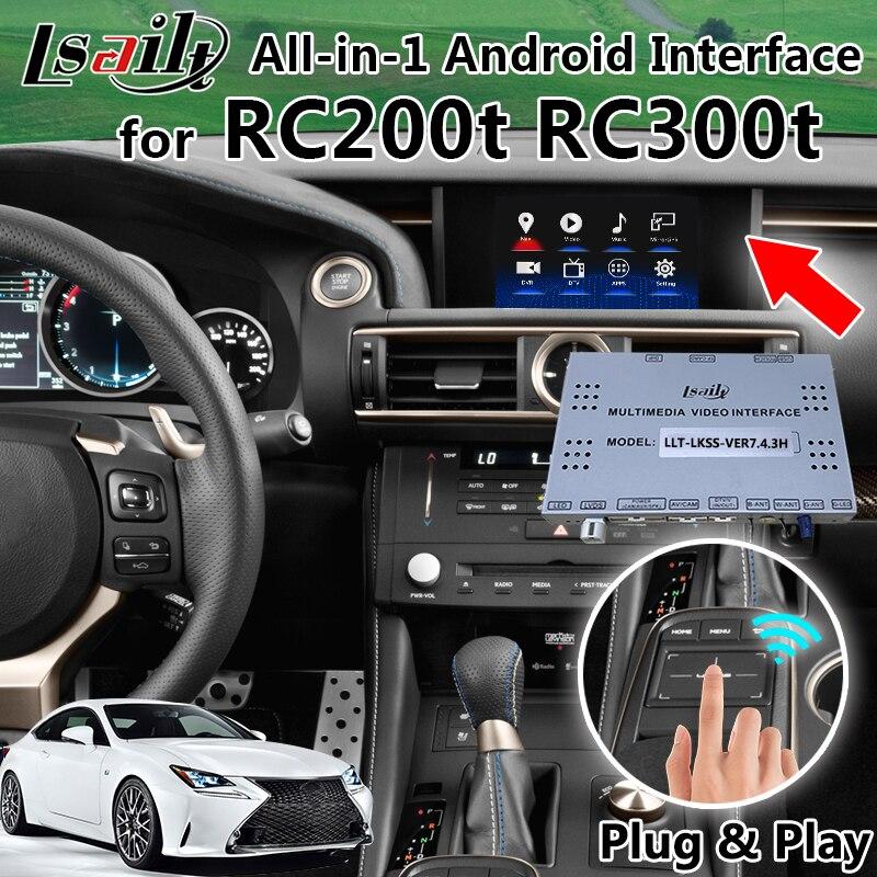 Tudo-em-1 Android GPS Box Navegação para Lexus RC com Miracast WIFI APP OEM Botão Touch- controle Pad etc.