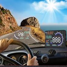 A8 5.5″ HUD Car Head Up Display CAR Self-adaptive Speed Warning Windscreen Projector Vehicle OBD II EOBD System Data Diagnosis