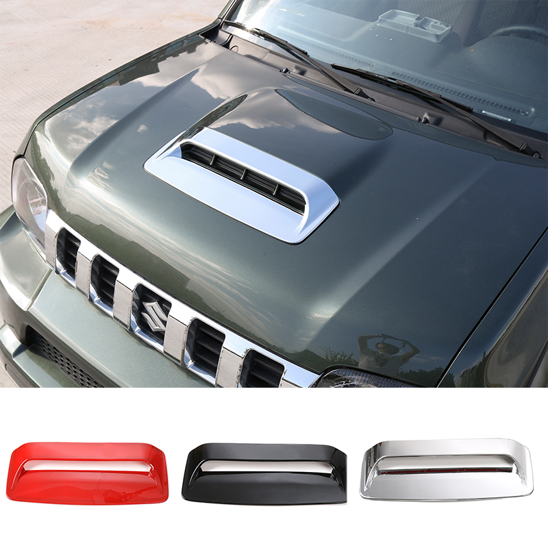 SHINEKA Car Styling Hood Air Vent Cover Engine Hood Inlet Decorative Trim for Suzuki Jimny epr car styling for nissan 370z z34 frp fiber glass front bumper air duct set fiberglass air vent accessories racing trim