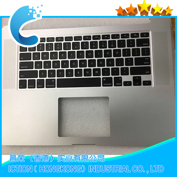 Original Palmrest Cover For Apple Macbook Retina 15'' A1398 Palm rest Top Case With US Keyboard 2015 Year new original palm rest for hp envy 15 15 k series laptop palmrest