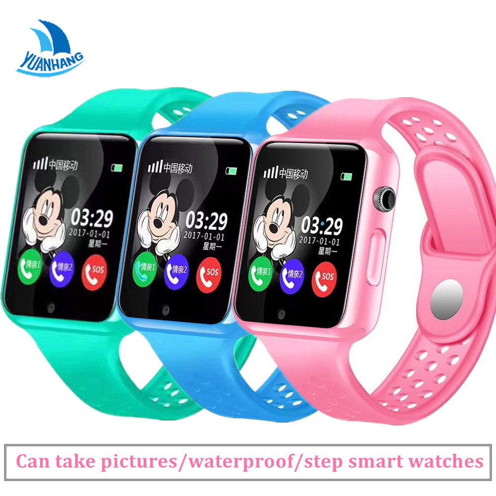 Smart Kids children watch GPS LBS AGPS Track Watch Support SIM TF Card Voice Intercom Camera SOS Remote Monitor Wearable Device
