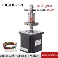 5PCS sfu1204 sfu1605 sfu1610 ball screw 150/250/350mm NEMA23 Stepper Motor 56MM for CNC 3D Printer