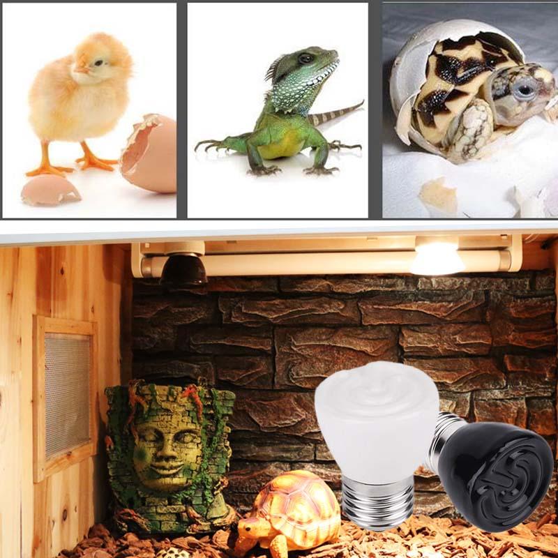 E27 100W Reptile Pet Heating Light Bulb Infrared Ceramic Emitter Lamp Lights Habitat Lighting For Pet Supplies Lampe Lamparas
