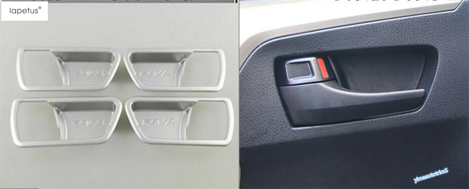 Matte Style ! Accessories For Toyota Rav4 Rav 4 2013 - 2018 Inner Side Car Door Handle Bowl Molding Cover Kit Trim 4 Piece