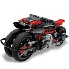 XINGBAO Technic City Moto Cross Motorcycle Building Blocks Sets Bricks Classic Model Kids Toys For Children Compatible Legoeings