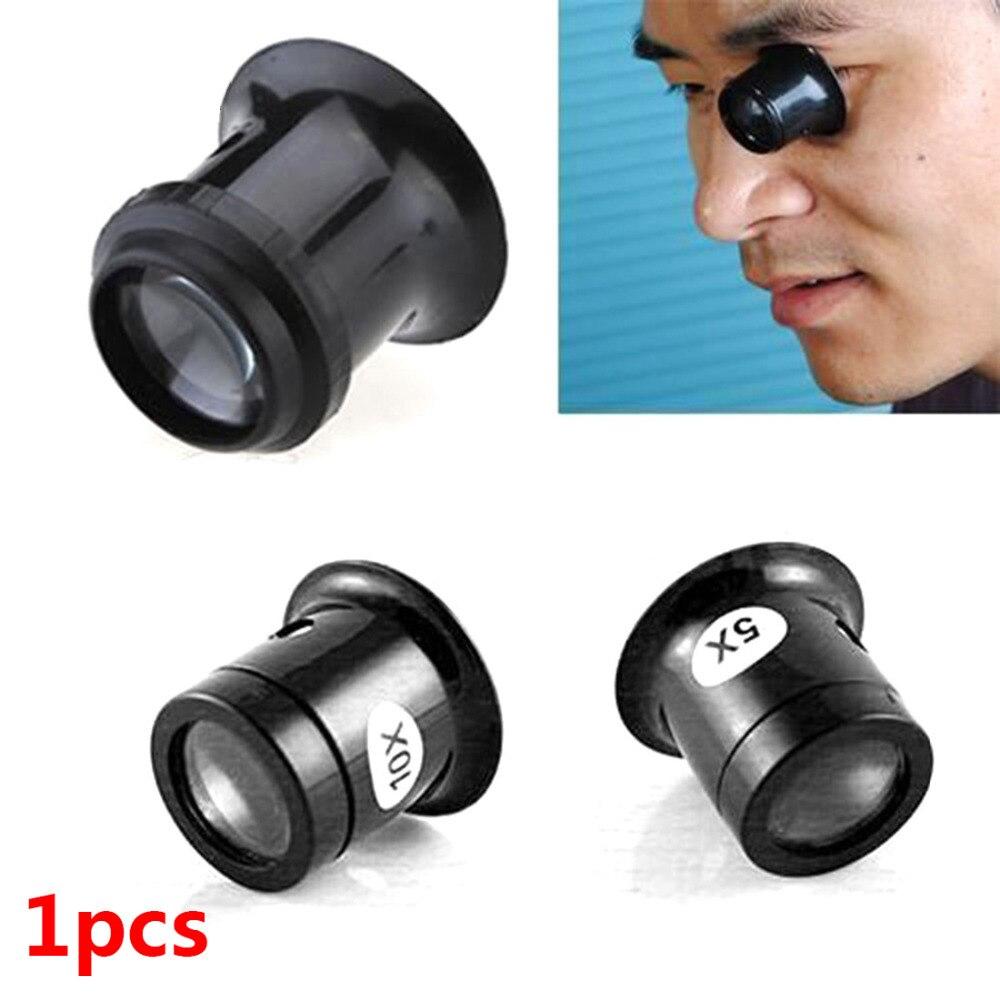 Jeweler Watch Magnifier Tool 10X/5X Monocular Magnifying Glass Loupe Lens Eye Magnifier Len Repair Kit Tool