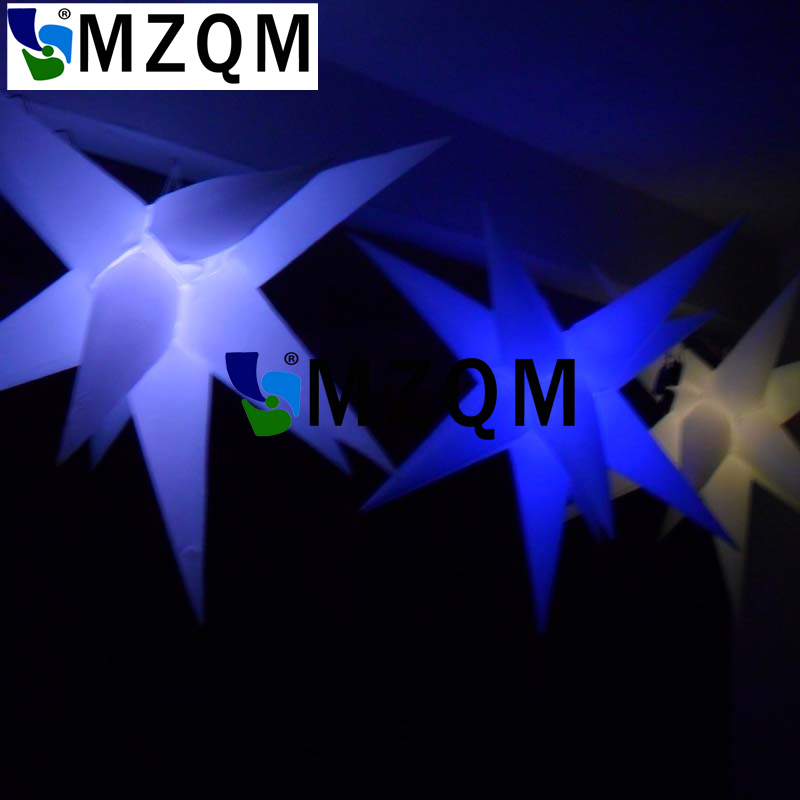 MZQM Stage and night club decoration Hanging lighting LED inflatable star 2 meter
