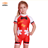 Axesea 1 Piece Hot Sale New Cute Baby Swimsuit Skirted Bodysuit For Kids Character Swimsuit Girls