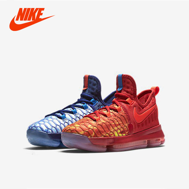 Original New Arrival Nike Air Zoom Kd Gs 9 Fire Ice Basketball