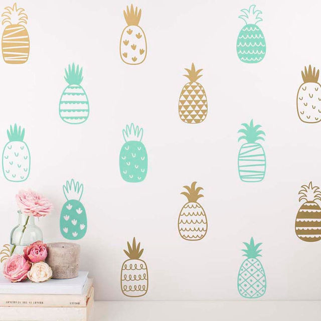 14 Style DIY Pineapple Art Decor Vinyl Wall Sticker Cute Decals Nursery
