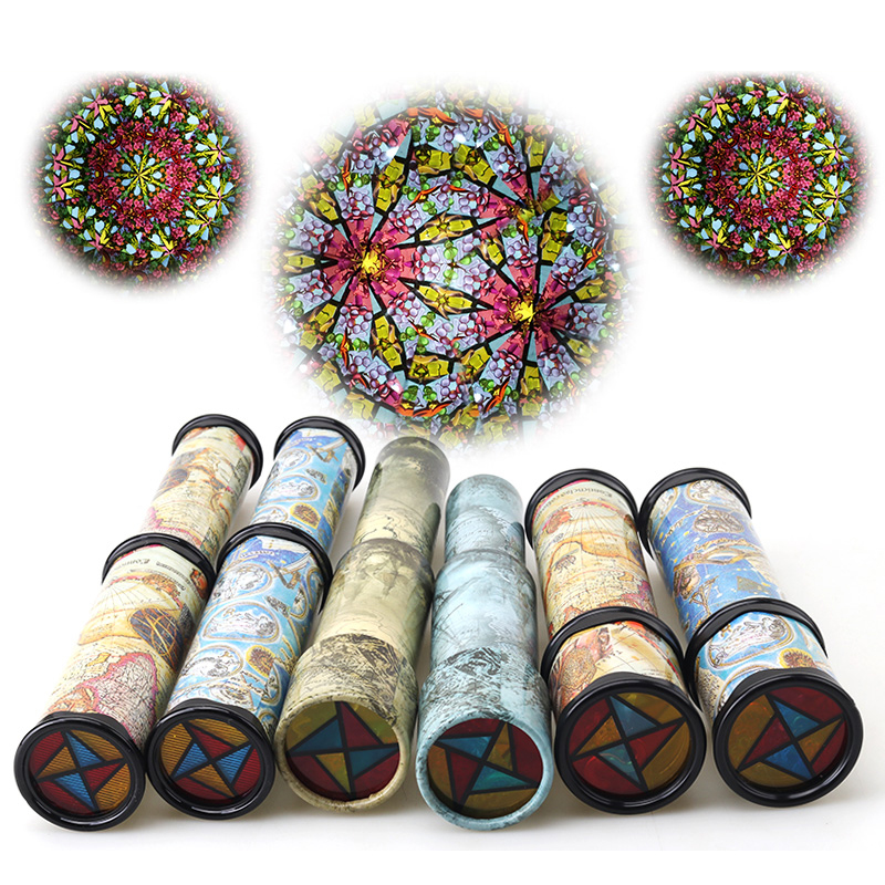 Imaginative Rotating Stretchable Magic Kaleidoscopes Adjustable Colorful World Toys Kids Children Educational Science Toy ...
