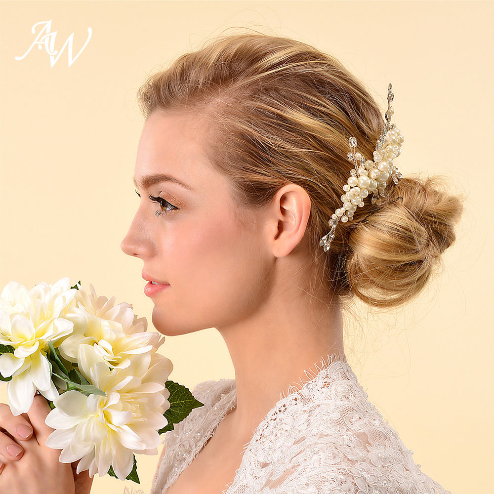 aw ivory wedding hair comb clip pins women hair accessories