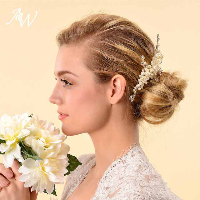 Aw Ivory Wedding Hair Comb Clip Pins Women Hair Accessories For