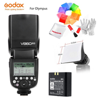 Godox Speedlite Strobe V860II O V860IIO X1T O Trigger For Olympus Panasonic Lumix Camera Flash TTL