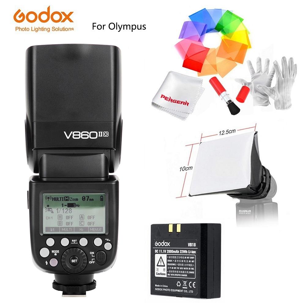 Godox Speedlite Strobe V860II-O V860IIO/X1T-O Trigger per Olympus Panasonic Lumix Dmc-Camera Flash TTL HSS GN60 Ad Alta Velocità 2.4G