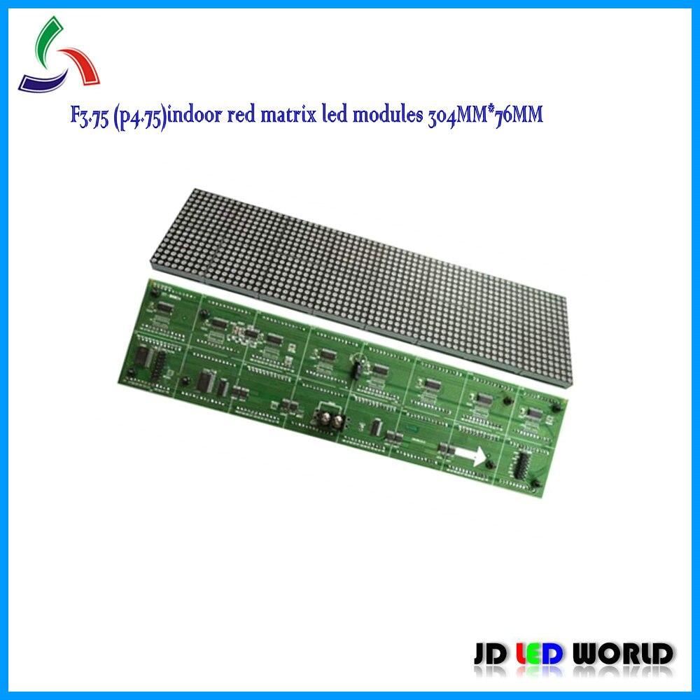 F375 Indoor Red Dot Matrix Led Display Sign Modules 6416dots 304mm Circuit
