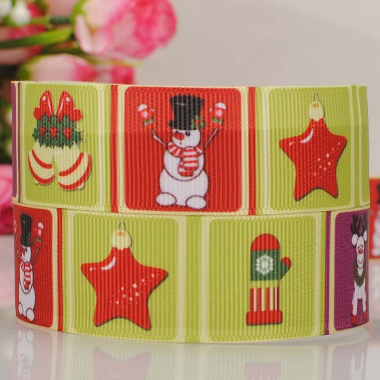 20Y 7822mm 2015new beautiful christmas snowman ribbon   grosgrain ribbon cartoon tape hairbow DIY gift