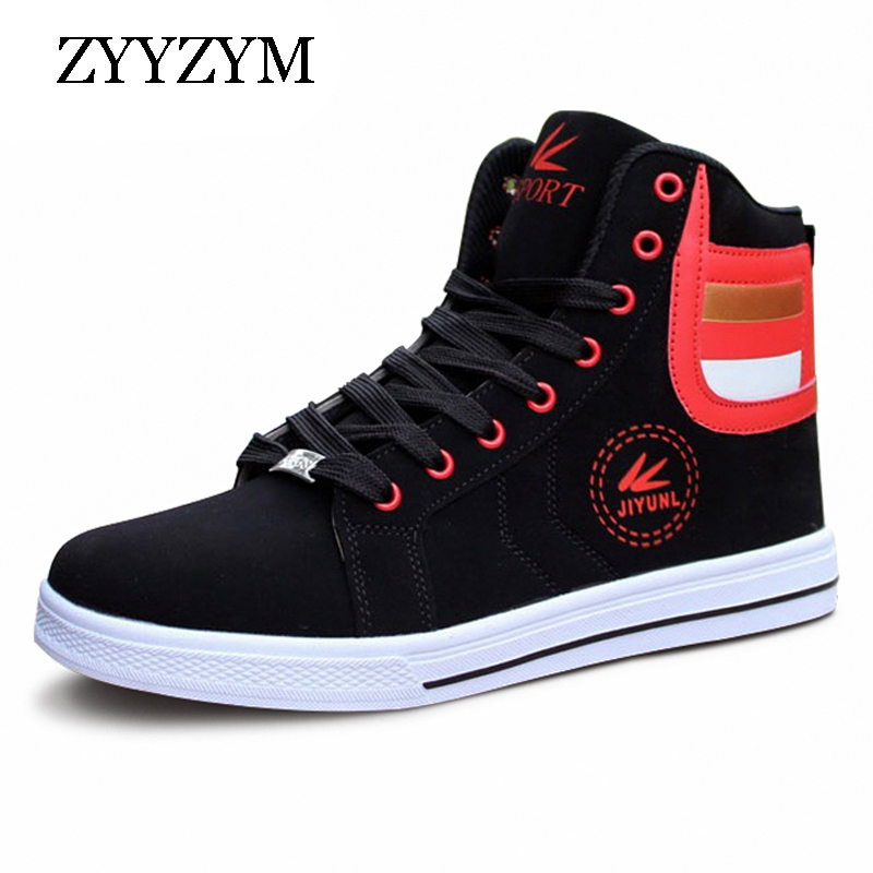 ZYYZYM Men Casual Shoes Lace-up High Style Fashion Trend Youth For Sneakers Men Shoes tept79001 trend ready letters casual style