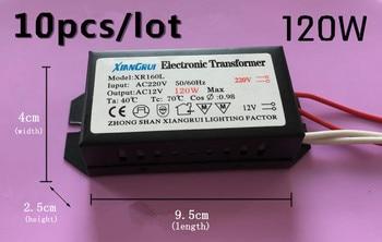 10pcs/lot Hot sale 120W High quality Electronic Transformer 220V - 12V LED Halogen Light Bulb Lamp Power Supply Driver 105w 12v halogen light led electronic transformer power supply driver power supply dc12v