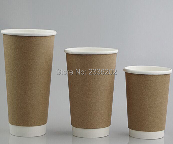 d2b86aab290 500PCS Craft Paper Yellow Double Wall Disposable Paper Cup Hot Drinking  Free Shipping-in Disposable Party Tableware from Home & Garden on  Aliexpress.com ...
