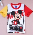 Children Boy t shirt take photo Cartoon short sleeve summer 100% cotton t-shirt