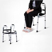 Складные приспособления для ходьбы из алюминиевого сплава регулируемые с сиденьем