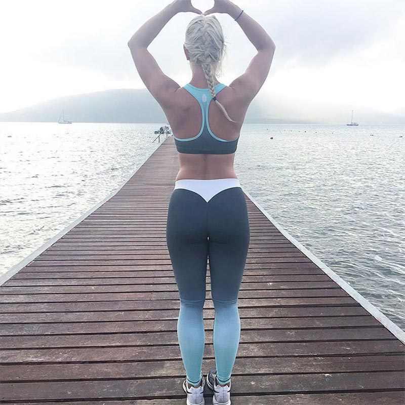 เซ็กซี่สีดำสูงเอวกีฬากางเกงฟิตเนสแฟชั่น Leggings กางเกงฟิตเนสกางเกงออกกำลังกาย