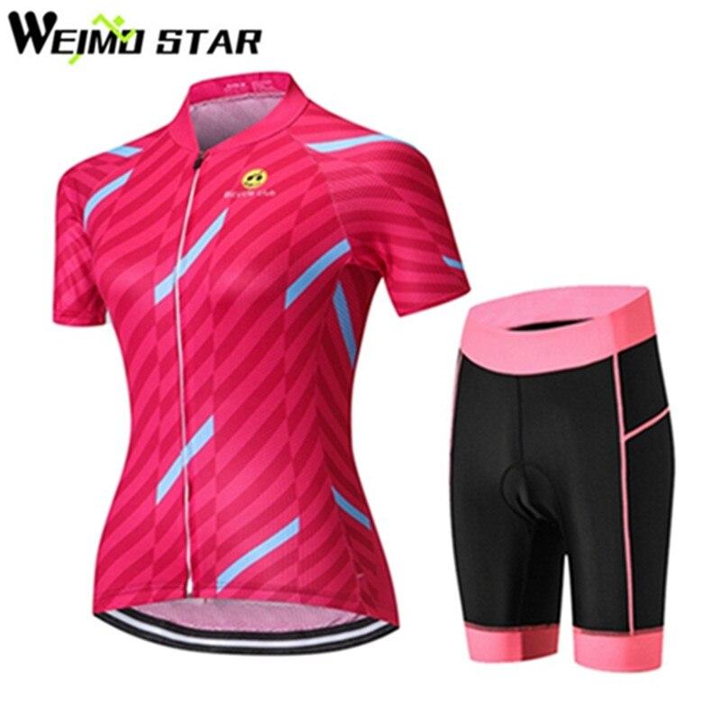 Cycling jersey MTB Bike Jersey bib shorts set Ropa Ciclismo maillot Women Cycling Clothing Girl bicycle Top Bottom Female