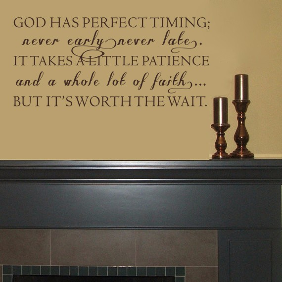 God has perfect timing Decal Christian Wall Art Inspirational Quote ...
