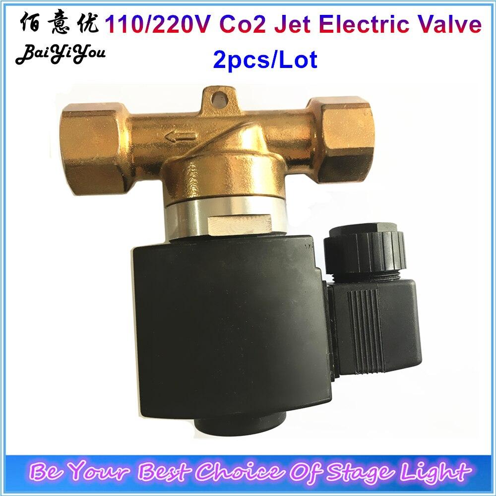 2pcs Lot Electric Valve CO2 Jet Machine Valve 1400 Psi 110V Or 220V Hongsen Brand For