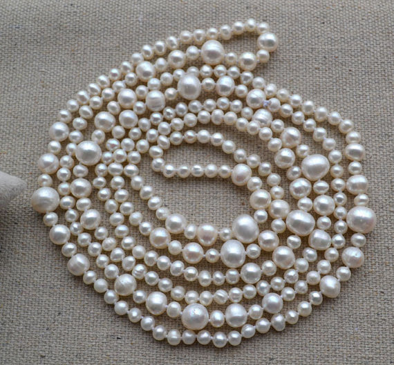Charming Real Pearl Jewelry,60inches Long AA 5 11MM White Color Genuine Freshwater Pearl Necklace Wedding Party Jewelry.