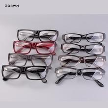 Mix wholesale promotion Men Eyeglasses retro Frames Fashion Brand Classic Business Glasses Frame Myopic Optic Clear Lens