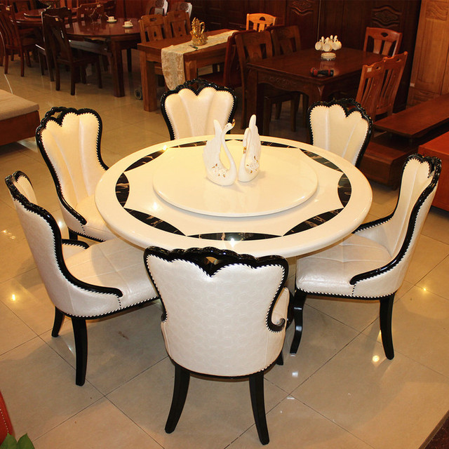 Delicieux 1.5meter Marble Dining Table For Dining Room Furiture Including 6 Pcs Dining  Chair