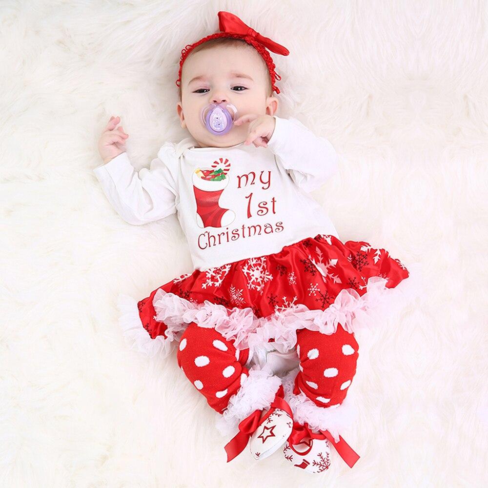 Christmas Baby Clothes Snowflake Long Sleeve Newborn Romper Dress ...
