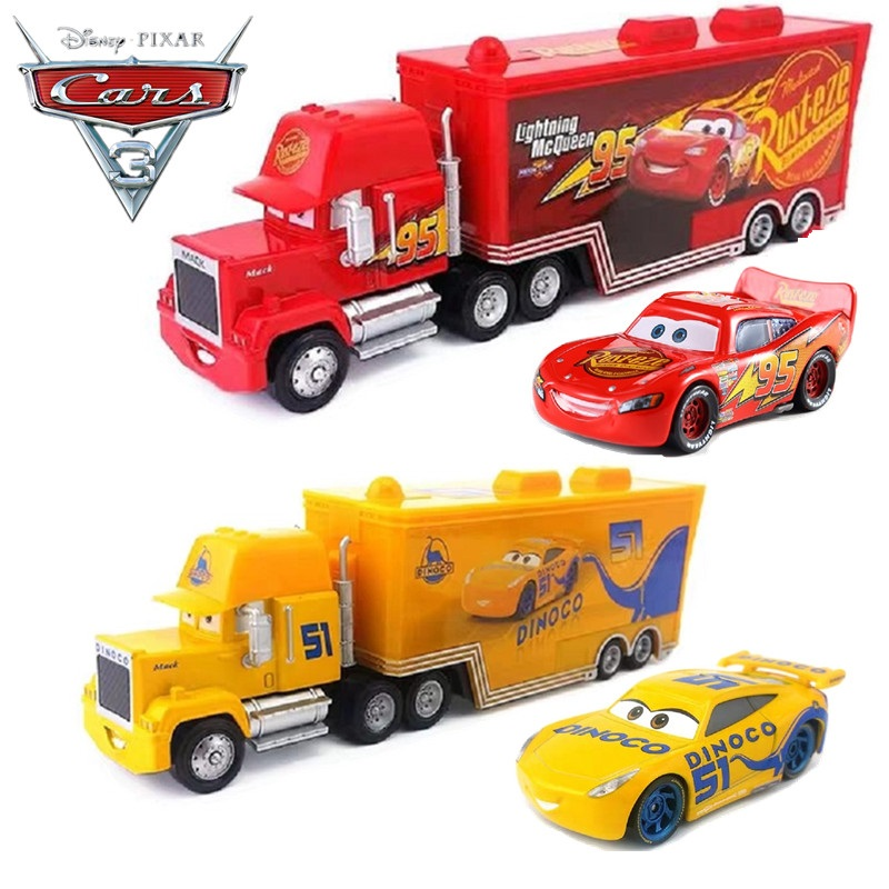 Disney Pixar Car 3 Lightning McQueen Jackson Uncle Mai 1:55 Die Cast Metal Alloy Model Toy Car 2 Children's Birthday Gift