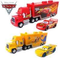 Disney pixar carro 3 relâmpago mcqueen jackson tio mai 1:55 morre molde liga de metal modelo de carro de brinquedo 2 presente de aniversário das crianças