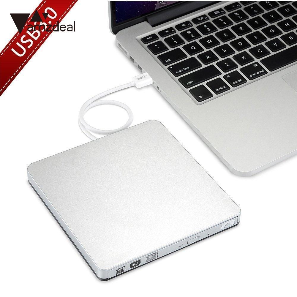 Amzdeal Portable USB 3.0 Externe DVD Rw Graveur Writer Pour Ordinateur Portable Portable Professionnel Qualité