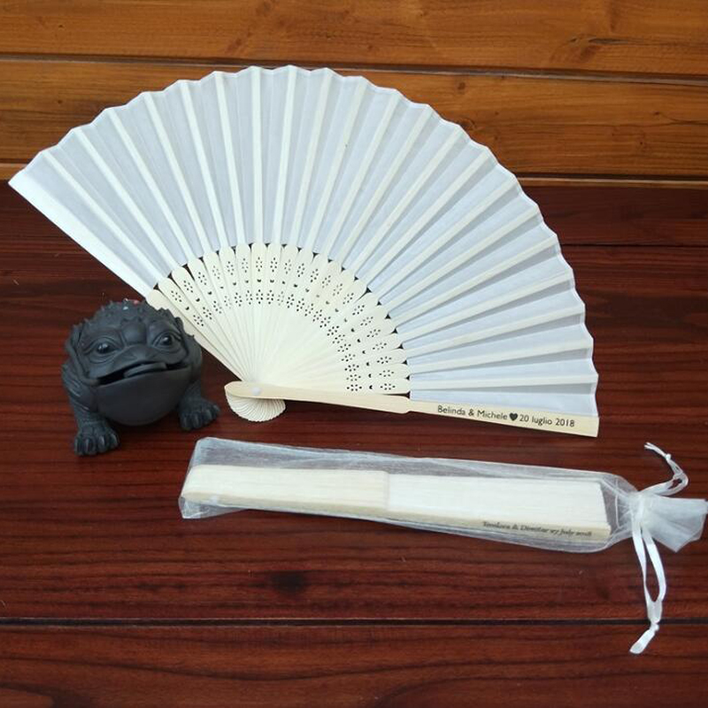 1pc Hand Fold Fan Chinese Style Japanese Dance Dancing Fan Traditional Present Gift Organza Bag Package Home Decor Party