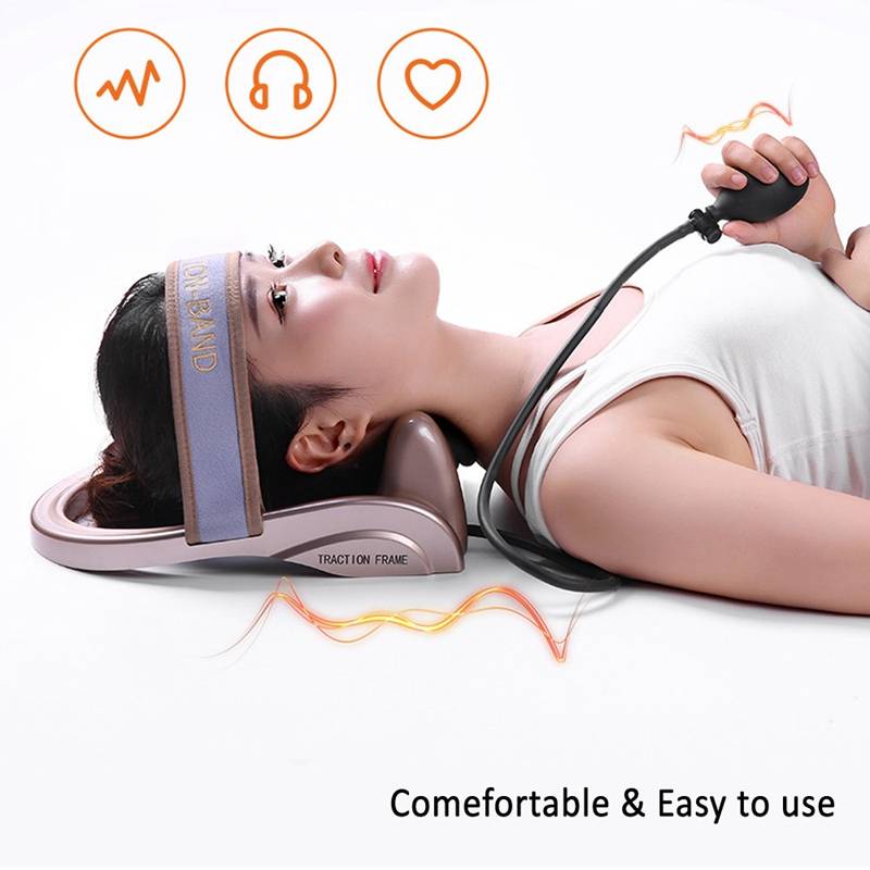 Image 5 - Neck Traction Cervical Posture Pump Air Filled Vertebra Correction Tractor Relaxing Massager Spine Muscle Relief Pain Device-in Neck Tractor from Beauty & Health