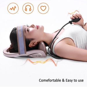 Image 5 - Neck Traction Cervical Posture Pump Air Filled Vertebra Correction Tractor Relaxing Massager Spine Muscle Relief Pain Device